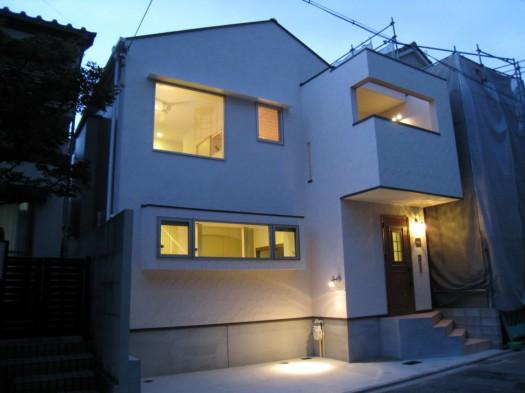 京都市M邸外観夜景