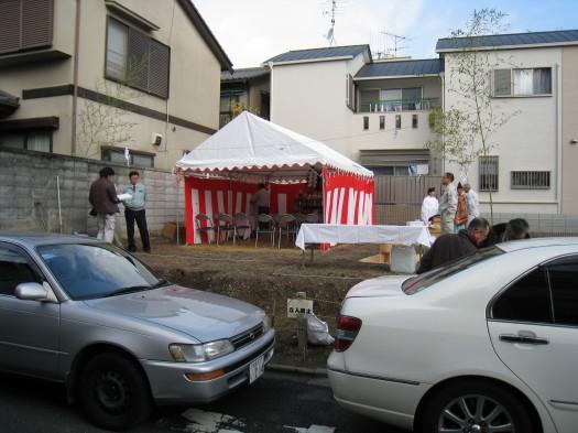 京都市M邸地鎮祭