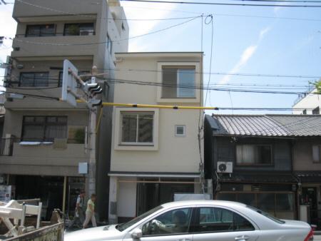 京都市U邸足場が外れました