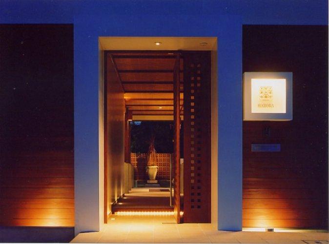 神戸市H邸玄関夜景