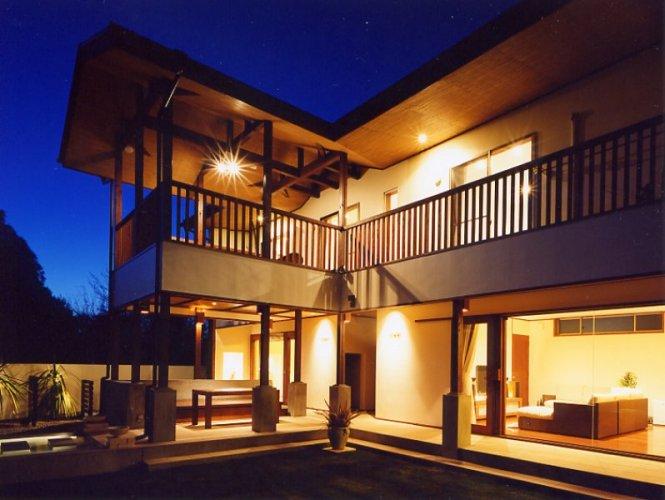 神戸市H邸中庭夜景