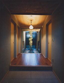 京都市H邸玄関