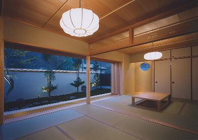 京都市H邸客間夜景