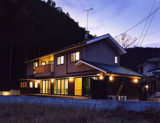 京都市Tk邸外観夜景