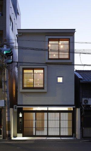 京都市U邸外観夜景
