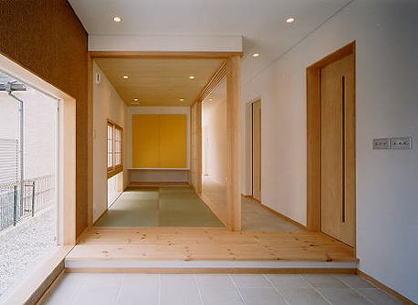 奈良市M邸玄関と迎えの間