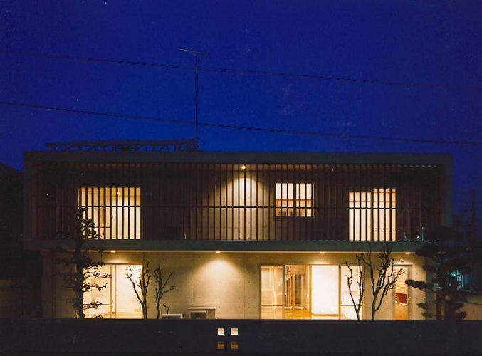 吹田市S邸南側外観夜景